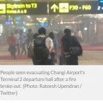 Bandara Changi Terbakar, Para Calon Penumpang Panik