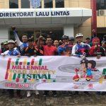 Dirlantas Polda Banten Touring Fun Bike Bersama Komunitas Sepeda Banten