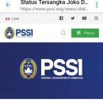 PSSI: Status Tersangka Joko Driyono Tak Terkait Pengaturan Skor