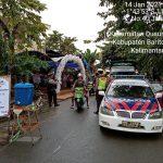 Satgas Yustisi Polres Barsel Gelar Patroli Prokes