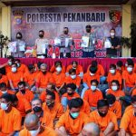 79 Preman Digaruk Polresta Pekanbaru