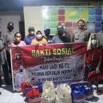 Peringati HUT Polwan Ke- 73, Srikandi Polres Bartim Salurkan 100 Paket Sembako