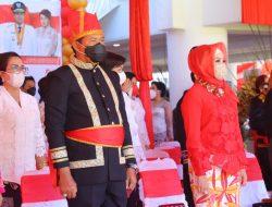 Hadiri HUT ke 57 Provinsi Sulut, Kapolda Pakai Baju Adat Minahasa