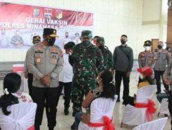 Kapolda Sulut Serahkan Bansos bagi Masyarakat dan Cek Penanganan Covid-19 di Polres Mitra