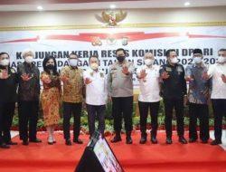 Kapolda Sulut Terima Kunjungan Komisi lll DPR